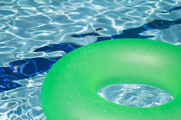 summer abstract swimming pool